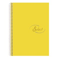 Notte 60106 Select Sarı Plastik Kapak Spiralli A4 120 Yaprak Çizgili