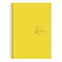 Notte 60107 Select Sarı Plastik Kapak Spiralli A4 160 Yaprak Çizgili
