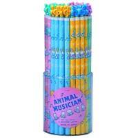 Müzisyen Hayvanlar Kurşun Kalem - Mavi