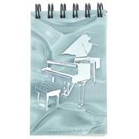 Kuyruklu Piyanolu Hologramlı Spiral Notluk