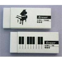 Kuyruklu Piyano Kaplama Kağıtlı Silgi