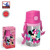 Minnie Mouse Pipetli Çelik Matara (400 Ml)