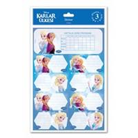 Keskin 220130-71 Frozen Ders Programlı Etiket 3 Yaprak