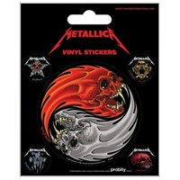 Metallica Yin & Yang Skulls Pushead Etiket