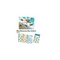 Keskin 220130-48 Planes Ders Programlı Etiket 3 Yapraklı