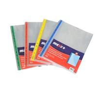 Globox Kristal Poşet Dosya Mavi Kenarlı 50'li Paket