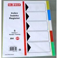 Globox (A4) 5 Renk Pp Seperatör (6750) (Ayraç)