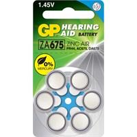 GP 6'lı ZA675 1.4V Düğme Kulaklık Pili (GPZA675-D6)