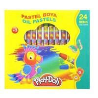 Play-Doh 24 Renk Pastel Boya Çantalı