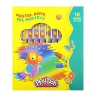 Play-Doh 18 Renk Pastel Boya Çantalı