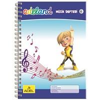 Adeland Müzik Defteri A4 Spiralli Karton Kapak, 40 Yaprak