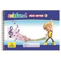 Adeland Müzik Defteri A5 Spiralli Karton Kapak, 30 Yaprak