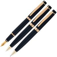Scrikss 38 3'Lü Tükenmez Kalem Siyah Altın