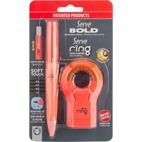 Serve Ring Silgili Kalemtıraş+Serve Bold 0.7Mm Versatil Kalem Fosforlu Kırmızı Sv-Br07B2Fk