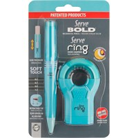Serve Ring Silgili Kalemtıraş+Serve Bold 0.7Mm Versatil Kalem Fosforlu Mavi Sv-Br07B2Fm