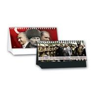 Keskin 2017 Mtk-791 Atatürk Resimli Karton Beyaz Üçgen Masa Takvimi 2017