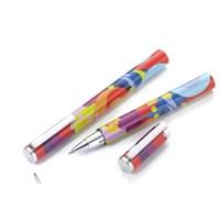 Troika Pen32/Co Pop Up Your Life - Roller Kalem Siyah Refil, Beyaz Metal Kutulu