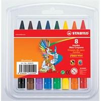 Stabilo Yippy-Wax Kalın Mum Boya 8 Renk Asklı Paket