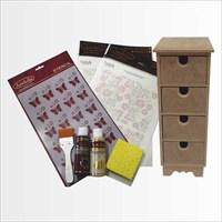 Artebella Sizde Yapabilirsiniz Seti Tak Takıştır Ahşap Kutu (Sy078)