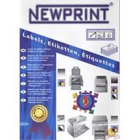 New Print Inkjet/laser Etiketi 99,1X67 mm