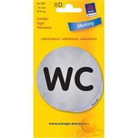 Avery Wc Yazısı Etiketi Gümüş 1 Adet - yanlış kod