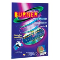 Avery Inkjet Tam Yüz Şeffaf Cd/Dvd Etiketi J8570A-10