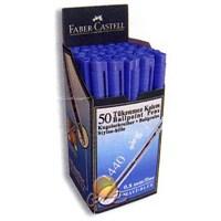 Faber-Castell 1440 Tükenmez Kalem 0.8mm 50'li Mavi (5207144051)