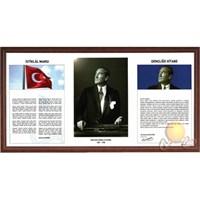 İnter 50x100 Atatürk Köşesi Piramit-Lamine Çerçeveli INT-750-5-L