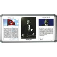 İnter 750-5 50x100 Atatürk Köşesi Alüminyum Çerçeveli INT-750-5