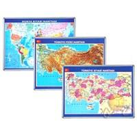 İnter 70x100 Türkiye Siyasi Haritası Alüminyum Çerçeveli INT-814