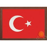 İnter 35 x 50 cm Lamine Çerçeveli Türk Bayrağı INT-827-L