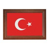 İnter Türk Bayrağı 20 x 30 Lamine Çerçeve