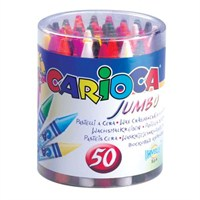 Carioca Elleri Kirletmeyen Yıkanabilir 50'li Jumbo Pastel Boya Kalemi