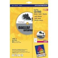 Avery 117 mm Çapında Lazer CD/DVD Tam Yüz Etiketi L7676-25