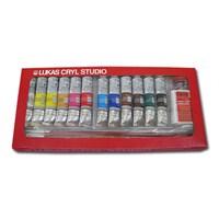 Lukas Cryl Studio 6074 Akrilik Kutulu Takım(12 Renk, 20 Ml Tüp, 3Fırça, Medium)