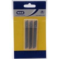 Mas 2573 Küçük Maket Bıçağı Yedeği 30 adet(Tüpte)