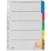 Serve Ayraç (A4/1-5 Rakam/Klasik Renkli)180Gr/M² Karton,Mylar İle Güçlendirilmiş Kulakçıklar Ve Delikler Sv-5523/K