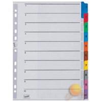 Serve Ayraç (A4/1-10 Rakam/Klasik Renkli)180Gr/M² Karton,Mylar İle Güçlendirilmiş Kulakçıklar Ve Delikler Sv-5524/K