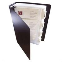 Serve Kartvizitlik 360 Kartlık,Alfabetik Ayraç,Şövalye Siyah Sv-6036