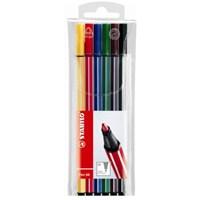 Stabilo Pen 68 6'lı Askılı Pk. Keçeli Kalem (6806/PL-77)