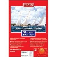 Tanex TW-3177 78x54,5 mm Laser Etiket 100 Ad.