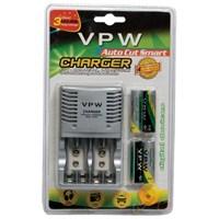 Vpw Süper Quick Charger 3 Hour Pil Şarj Cihazı+ 4 X 2500 Mah Aa Ni-mh Şarjlı Pil