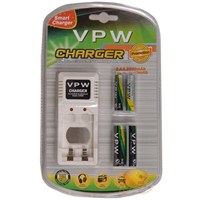 Vpw Smart Charger Pil Şarj Cihazı + 2 X 2500 Mah Aa + 2 X 1000 Mah Aaa Ni-mh Şarjlı Pil