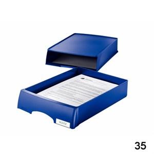 leitz çekmece evrak rafı mavi 52100035 - mavi