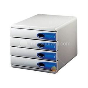 leitz allura çekmeceli evrak rafı 4 çekmeceli mavi 52060005 - mavi