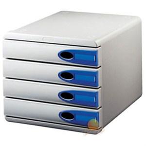 leitz allura çekmeceli evrak rafı 4 çekmeceli gri 52060092 - gri
