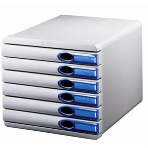 leitz allura çekmeceli evrak rafı 6 çekmeceli mavi 52080005 - mavi