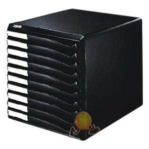 leitz çekmeceli evrak rafı 10 çekmeceli siyah 52940095