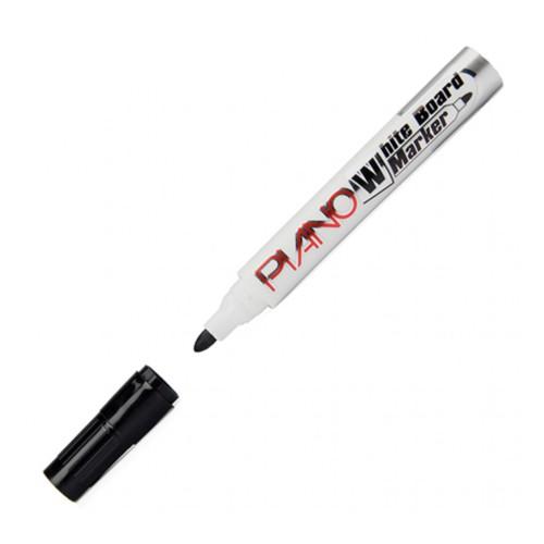 Piano 3 Adet Siyah Renk Beyaz Yazı Tahtası Kalemi (Board Marker) - Brons 1 Adet Tahta Silgisi