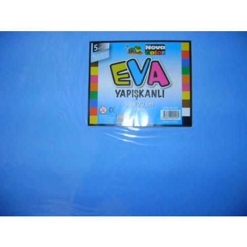 Nova Color Yapışkanlı Eva 2Mm 50*70Cm Mavi